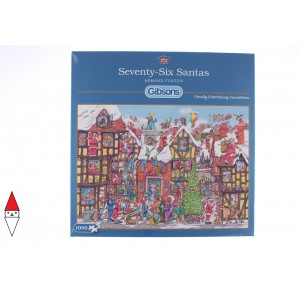 GIBSONS, , , PUZZLE TEMATICO GIBSONS NATALE SEVENTY-SIX SANTAS 1000 PZ