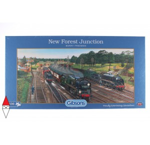 GIBSONS, , , PUZZLE MEZZI DI TRASPORTO GIBSONS TRENO NEW FOREST JUNCTION 636 PZ