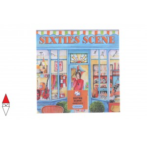 GIBSONS, , , PUZZLE TEMATICO GIBSONS NEGOZI SIXTIES SCENE 500 PZ