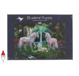BLUEBIRD, , , PUZZLE GRAFICA BLUEBIRD FANTASY RAINBOW UNICORN FAMILY 1000 PZ