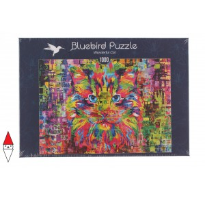 BLUEBIRD, , , PUZZLE ANIMALI BLUEBIRD GATTI WONDERFUL CAT 1000 PZ