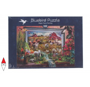 BLUEBIRD, , , PUZZLE ANIMALI BLUEBIRD FATTORIA MAGIC FARM PAINTING 1000 PZ