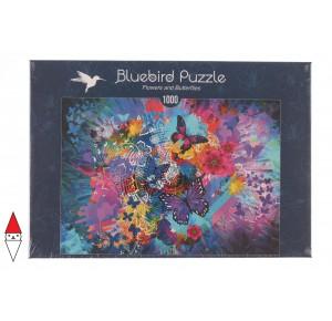 BLUEBIRD, , , PUZZLE ANIMALI BLUEBIRD FARFALLE FLOWERS AND BUTTERFLIES 1000 PZ