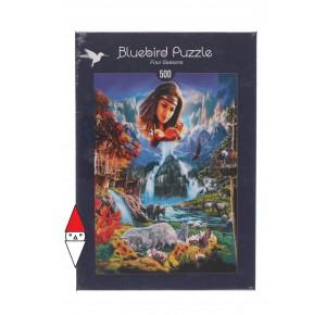 BLUEBIRD, , , PUZZLE ANIMALI BLUEBIRD FANTASY FOUR SEASONS 500 PZ