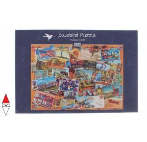 BLUEBIRD, , , PUZZLE OGGETTI BLUEBIRD CARTOLINE POSTCARD (USA) 1000 PZ