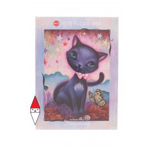 HEYE, , , PUZZLE ANIMALI HEYE GATTI DREAMING BLACK KITTY 1000 PZ