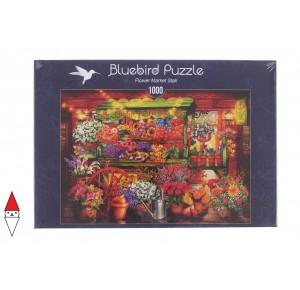 BLUEBIRD, , , PUZZLE TEMATICO BLUEBIRD NEGOZI FLOWER MARKET STALL 1000 PZ