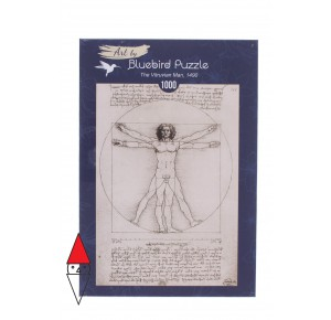 BLUEBIRD, , , PUZZLE ARTE BLUEBIRD RINASCIMENTO L. DA VINCI THE VITRUVIAN MAN 1490 1000 PZ