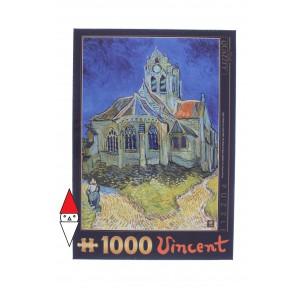 DTOYS, , , PUZZLE ARTE DTOYS IMPRESSIONISMO VAN GOGH THE CHURCH AT AUVERS (DETAIL) 1000 PZ
