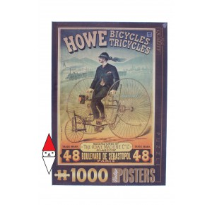 DTOYS, , , PUZZLE GRAFICA DTOYS STAMPE VINTAGE BICYCLES TRICYCLES 1000 PZ