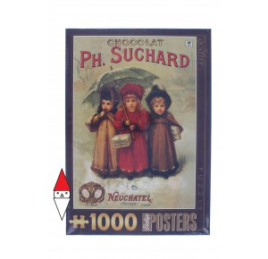 DTOYS, , , PUZZLE GRAFICA DTOYS STAMPE VINTAGE CHOCOLAT PHILIPPE SUCHARD 1000 PZ