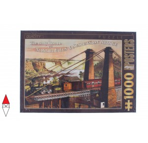 DTOYS, , , PUZZLE GRAFICA DTOYS STAMPE VINTAGE THE ONLY ROUTE VIA NIAGARA FALLS 1000 PZ
