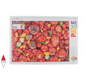 DTOYS, , , PUZZLE OGGETTI DTOYS ALIMENTI HIGH DIFFICULTY FOOD TOMATOS 1000 PZ