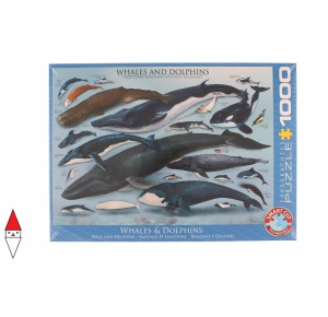 EUROGRAPHICS, , , PUZZLE ANIMALI EUROGRAPHICS PESCI WHALES AND DOLPHINS 1000 PZ