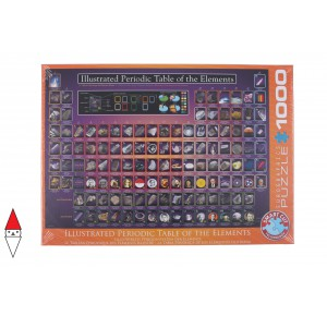 EUROGRAPHICS, , , PUZZLE TEMATICO EUROGRAPHICS ILLUSTRATED PERIODIC TABLE OF THE ELEMENTS 1000 PZ