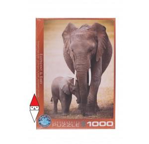 EUROGRAPHICS, , , PUZZLE ANIMALI EUROGRAPHICS ELEFANTI ELEPHANT AND BABY 1000 PZ