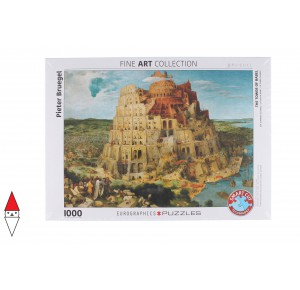 EUROGRAPHICS, , , PUZZLE ARTE EUROGRAPHICS PITTURA FIAMMINGA BRUEGHEL THE TOWER OF BABEL 1000 PZ