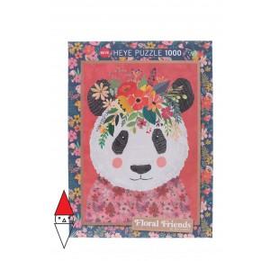 HEYE, , , PUZZLE GRAFICA HEYE PANDA CUDDLY PANDA FLORAL FRIENDS 1000 PZ