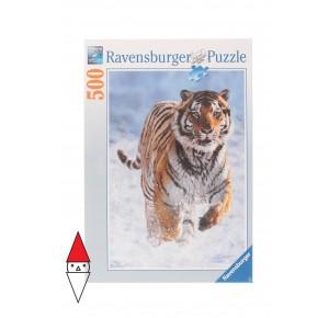RAVENSBURGER, , , PUZZLE ANIMALI RAVENSBURGER TIGRI TIGRO NELLA NEVE 500 PZ