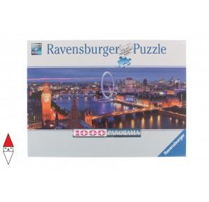RAVENSBURGER, , , PUZZLE PAESAGGI RAVENSBURGER CITTA LONDRA DI NOTTE PANORAMA 1000 PZ