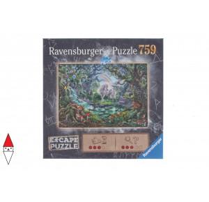 RAVENSBURGER, , , PUZZLE GRAFICA RAVENSBURGER FANTASY UNICORNO ESCAPE 759 PZ
