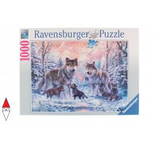 RAVENSBURGER, , , PUZZLE ANIMALI RAVENSBURGER LUPI LUPI ARTICI 1000 PZ