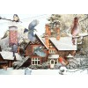 THE HOUSE OF PUZZLES, The-House-of-Puzzles-0304, 5060002000304, PUZZLE TEMATICO THE HOUSE OF PUZZLES STAGIONI INVERNO A BIRDS EYE VIEW 1000 PZ