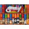 BLUEBIRD, BLUEBIRD-PUZZLE-70216, 3663384702167, PUZZLE ANIMALI BLUEBIRD GATTI CAT BOOKSHELF 1000 PZ