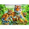 BLUEBIRD, BLUEBIRD-PUZZLE-70137, 3663384701375, PUZZLE ANIMALI BLUEBIRD TIGRI TIGER AND CUBS 1500 PZ