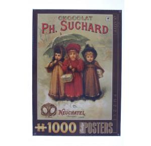 , , , PUZZLE GRAFICA DTOYS POSTER VINTAGE CHOCOLATS PHILIPPE SUCHARD 1000 PZ