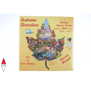 , , , PUZZLE SAGOMATO SUNSOUT STAGIONI AUTUMN SHORELINE 1000 PZ