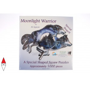 , , , PUZZLE SAGOMATO SUNSOUT LUPI AL AGNEW MOONLIGHT WARRIOR 1000 PZ