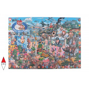 GIBSONS, , , PUZZLE TEMATICO GIBSONS NAZIONI I LOVE GREAT BRITAIN 1000 PZ