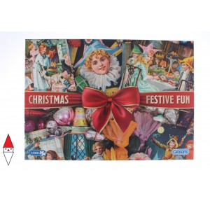 GIBSONS, , , PUZZLE TEMATICO GIBSONS NATALE CHRISTMAS FESTIVE FUN 1000 PZ
