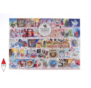 GIBSONS, , , PUZZLE TEMATICO GIBSONS NATALE CHRISTMAS ALPHABET 1000 PZ