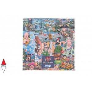, , , PUZZLE TEMATICO GIBSONS NAZIONI I LOVE GREAT BRITAIN 500 PZ