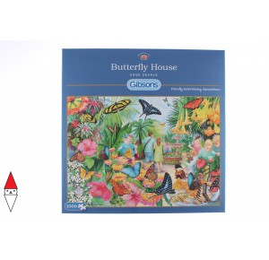 GIBSONS, , , PUZZLE ANIMALI GIBSONS FARFALLE BUTTERFLY HOUSE 1000 PZ