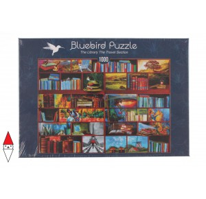 , , , PUZZLE OGGETTI BLUEBIRD LIBRERIA THE LIBRARY THE TRAVEL SECTION 1000 PZ