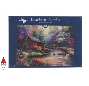 , , , PUZZLE EDIFICI BLUEBIRD COTTAGES E CHALETS BROOKSIDE RETREAT 1000 PZ