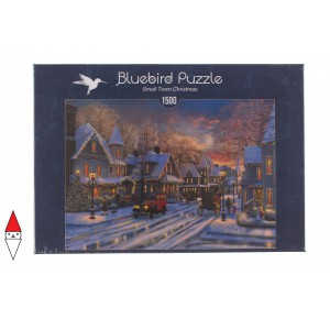 , , , PUZZLE TEMATICO BLUEBIRD NATALE SMALL TOWN CHRISTMAS 1500 PZ