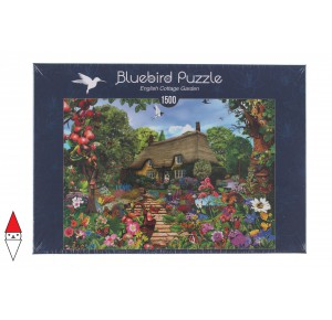 , , , PUZZLE EDIFICI BLUEBIRD COTTAGES E CHALETS ENGLISH COTTAGE GARDEN 1500 PZ