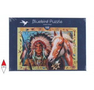 , , , PUZZLE TEMATICO BLUEBIRD INDIANI INDIAN CHIEF 1500 PZ