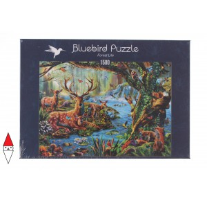 , , , PUZZLE ANIMALI BLUEBIRD FORESTA FOREST LIFE 1500 PZ