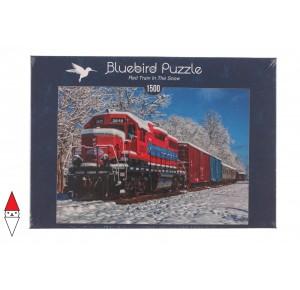 , , , PUZZLE MEZZI DI TRASPORTO BLUEBIRD TRENI RED TRAIN IN THE SNOW 1500 PZ