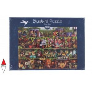 , , , PUZZLE OGGETTI BLUEBIRD LIBRERIA WINE SHELF 2000 PZ