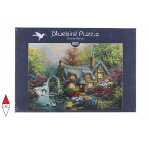 , , , PUZZLE EDIFICI BLUEBIRD COTTAGES E CHALETS COUNTRY RETREAT 3000 PZ