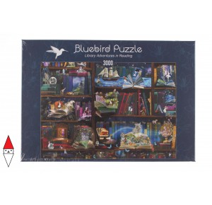 , , , PUZZLE OGGETTI BLUEBIRD LIBRERIA LIBRARY ADVENTURES IN READING 3000 PZ