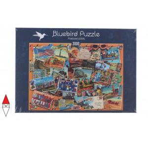 , , , PUZZLE OGGETTI BLUEBIRD CARTOLINE POSTCARD (USA) 3000 PZ