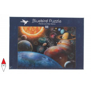 , , , PUZZLE TEMATICO BLUEBIRD SPAZIO PLANETS AND THEIR MOONS 500 PZ