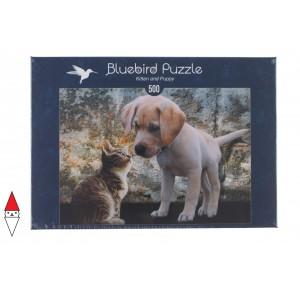 , , , PUZZLE ANIMALI BLUEBIRD GATTI KITTEN AND PUPPY 500 PZ